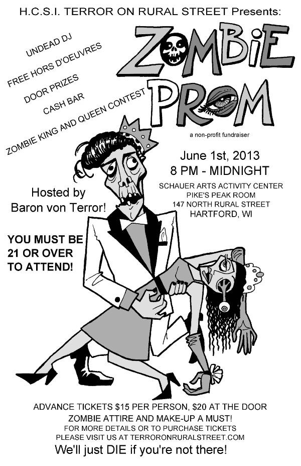 HCSI Zombie Prom Flyer