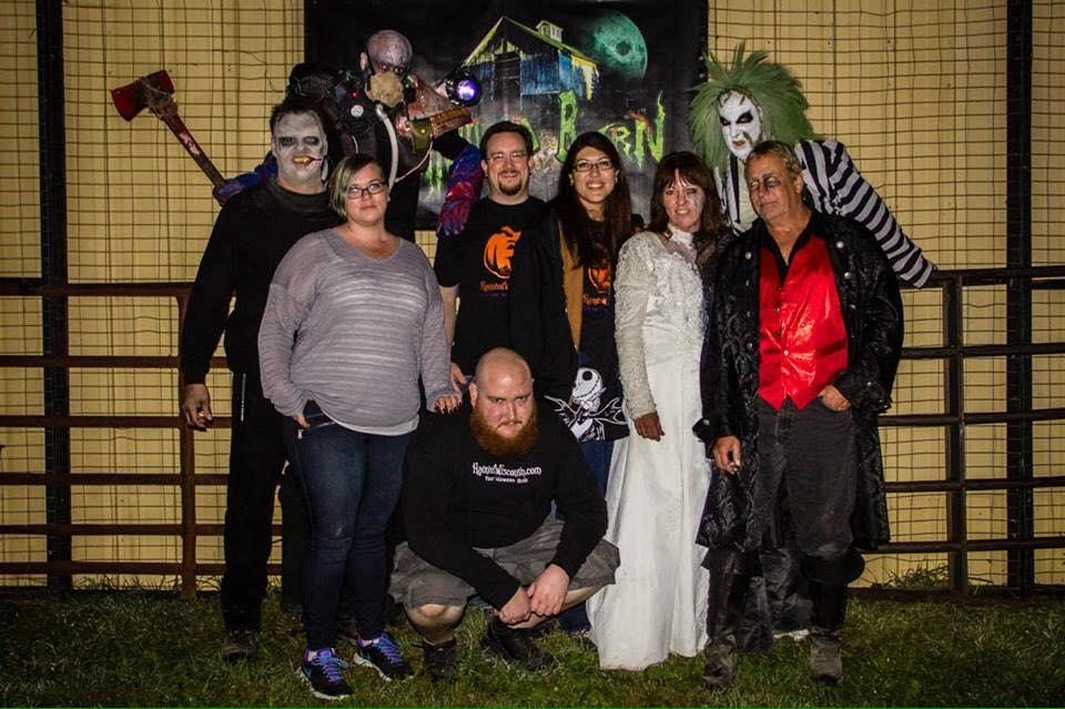 Group shot at The Haunted Barn