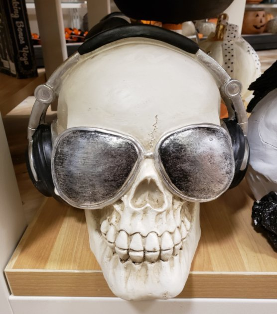 Skull with Sunglasses and Headphones