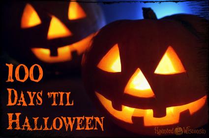 100 days 'til halloween Jack-o-lanterns.