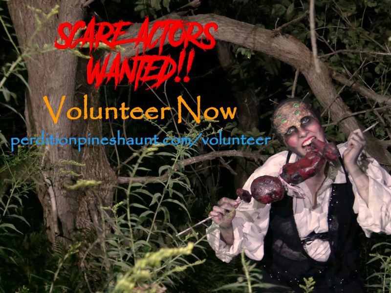 Volunteer at Perdition Pines Haunted Event for the 2021 season