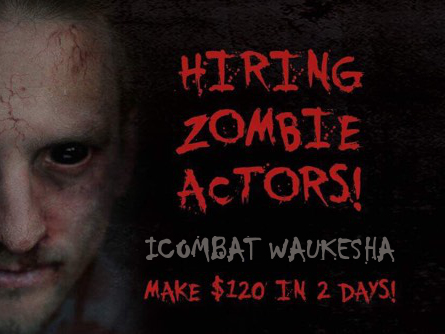 Waukesha area zombies wanted May 23 and 24, 2017